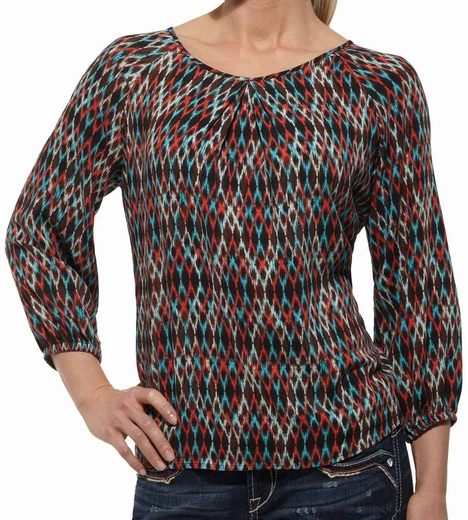 Ariat® Womens Bridget Three Quarter Sleeves Top - Multi
