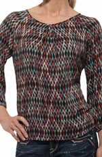 Ariat® Womens Bridget Three Quarter Sleeves Top - Multi (Closeout)