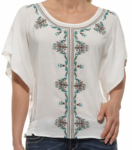 Ariat® Womens Callie Tunic Top - Star White (Closeout)