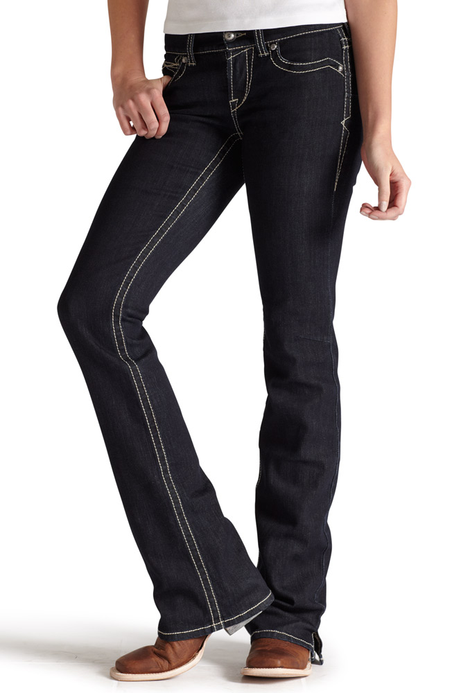 Ariat® Womens Mid Rise Boot Cut Real Riding Jeans - Eclipse