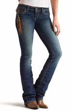 Ariat® Womens Ruby Low Rise Boot Cut Jeans - Dark Cloud