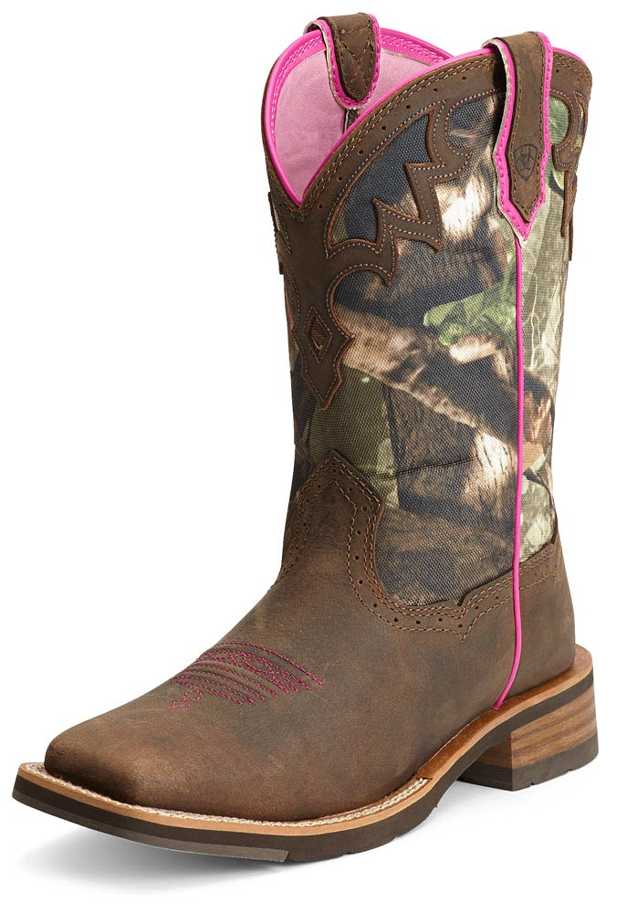 Ariat® Womens Unbridled Boots - Powder Brown/Camo