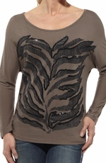 Ariat® Womens Zebra Dolman Top