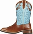 "Ariat Women's 10"" Unbridled Square Toe Western Boots - Coyote Brown/ Cielo Blue"
