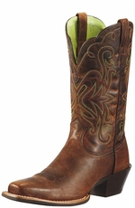 "Ariat Women's 11"" Legend Square Toe Western Boots - Sassy Brown"