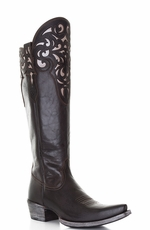 "Ariat Women's 15"" Hacienda Western Boots - Old West Black (Closeout)"