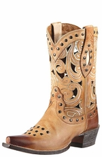 "Ariat Women's 9"" Paloma Cowgirl Boots - Oak Barrel"