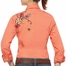 Ariat Women's Cantina Fitted Long Sleeve Solid Snap Western Shirt with Floral and Bird Embroidery - Coral (Closeout)
