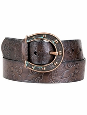 Ariat Women's Charmed Collection Belt- Chocolate