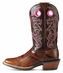 "Ariat Women's Crossfire 11"" Cowboy Boots - Weathered Buckskin/Dress Brown"