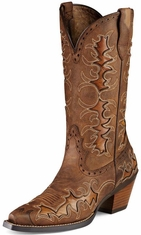 "Ariat Women's Dandy 12"" Cowgirl Boots - Sassy Brown/ Sand Hill Brown"