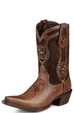 "Ariat Women's Desperado 9"" Western Pinch Toe Cowgirl Boots - Dry Creek Brown (Closeout)"