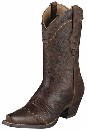 Ariat Women's Dixie Cowboy Boots - Brown Oiled Rowdy (Closeout)