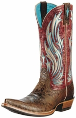 Ariat Women's Empresario Western Cowgirl Boots - Washed Out Adobe (Closeout)