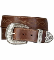 Ariat Women's Fatbaby Collection 3 Piece Belt - Russet Rebel