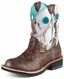 Ariat Women's Fatbaby Cowboy Boots - Brown Crinkle/Snowflake