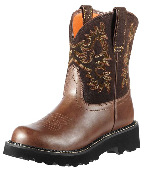 Ariat Women's Fatbaby Cowboy Boots - Brown Rebel/ Brownie