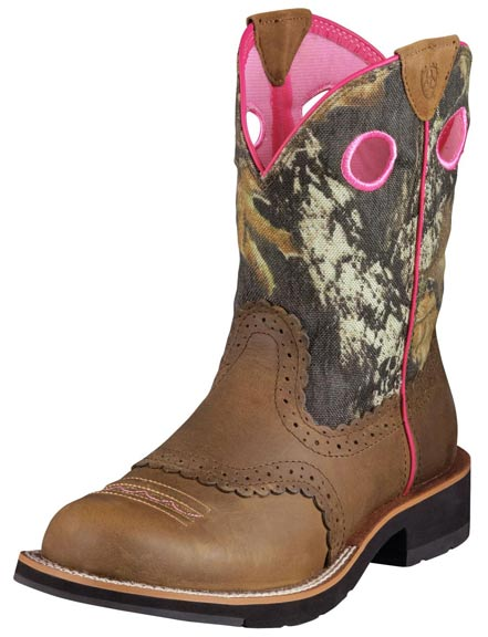 Ariat Women's Fatbaby Cowboy Boots - Distressed Brown