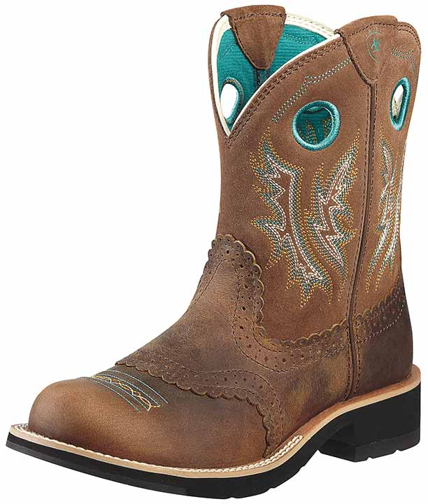 Ariat Women's Fatbaby Cowgirl Boots - Powder Brown/ Tan