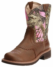 Ariat Women's Fatbaby Heritage Boots - Vintage Bomber/Pink Camo