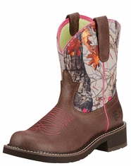 Ariat Women's Fatbaby Heritage Vivid Boots - Grained Russet/Hot Leaf (Closeout)