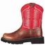 Ariat Women's Fatbaby Thunderbird Cowboy Boots - Fiddle Brown/ Red