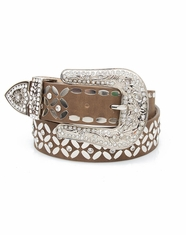 Ariat Women's Floral Crystals Belt - Brown