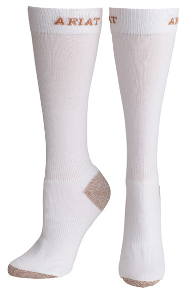 Ariat Women's Heavy Duty Sport Socks - White