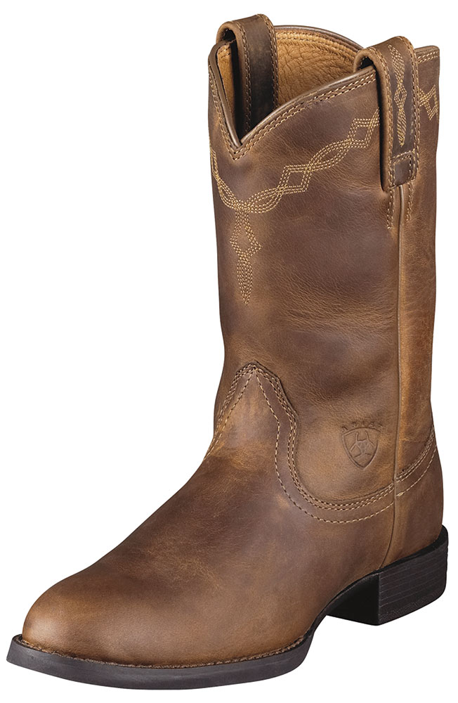 Ariat Women's Heritage Roper Boots - Brown Distressed
