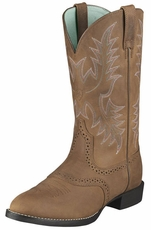 Ariat Women's Heritage Stockman Cowboy Boots - Driftwood Brown