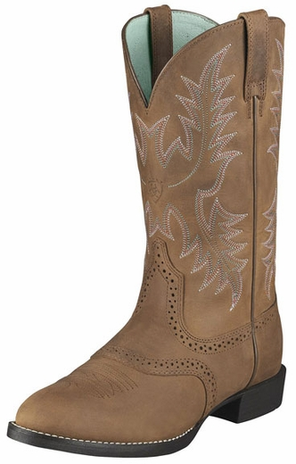 Ariat Women's Heritage Stockman Cowboy Boots - Driftwood Brown (Closeout)