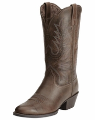 Ariat Women's Heritage Western R Toe Boots - Chocolate