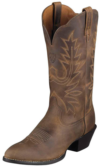 Ariat Women's Heritage Western R Toe Cowboy Boots - Distressed Brown