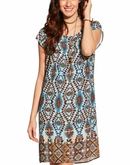 Ariat Women's Kallie Short Sleeve Print Dress - Multi