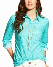 Ariat Women's Long Sleeve Kirby Button Down Shirt - Turquoise