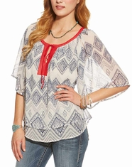 Ariat Women's Lucinda Tunic Top - Whisper White (Closeout)