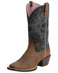 Ariat® Women's Mesquite Boots - Distressed Brown/Kryptek (Closeout)