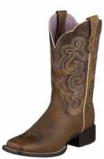 "Ariat Women's Quickdraw 11"" Boots - Badlands Brown"
