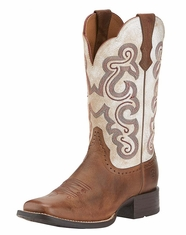 Ariat Women's Quickdraw Boots - Sandstorm/Distressed White (Closeout)