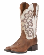 Ariat Women's Quickdraw Boots - Sandstorm/Distressed White