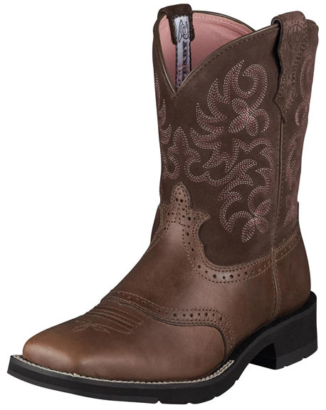 Ariat Women's Ranchbaby Square Toe Cowboy Boots - Brown Rebel
