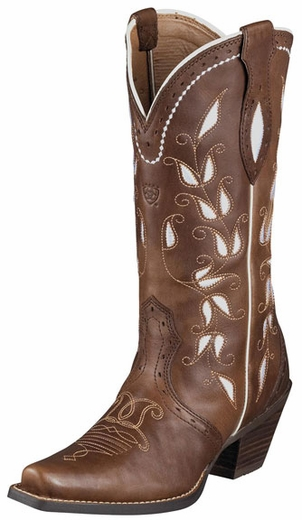 Ariat Women's Sonora Cowboy Boots - Bitterwater Brown (Closeout)