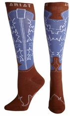 Ariat Women's Western Boot Knee High Socks - Brown