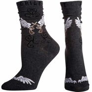 Ariat Women's Wings Ankle Socks - Charcoal