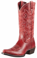 Ariat Womens Alabama Cowboy Boots - Redwood