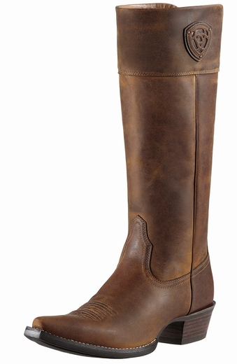 Ariat Womens Chandler Tall Snip Toe Boots - Distressed Brown (Closeout)