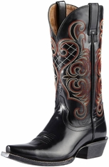 Ariat Womens Bright Lights Boots - Jet Black (Closeout)