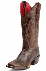 Ariat Womens Caballera  Cowboy Boots - Antique Espresso (Closeout)