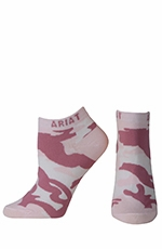 Ariat Womens Camo No Show Socks - Pink (Closeout)