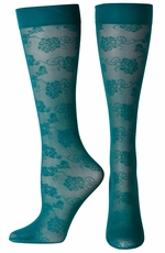 Ariat Womens Lace Tall Boot Socks - Ocean Depths (Closeout)